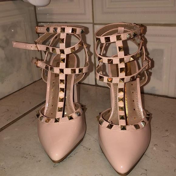 Pink Studded Heels